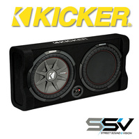 Kicker 10″ Sealed Thin Enclosure 400 Watts RMS 2 Ohm SubWoofer