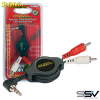 DNA ALR035R Retract 3.5m - 2RCA Lead 75cm