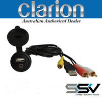 Clarion CCAUSBAV Flush Mount USB/AV Extension Cable