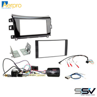 Aerpro Double din install kit to suit Nissan Navara NP300 ST/STX gloss black