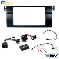 Aerpro FP9223K Install kit with double din facia to suit bmw 3 series
