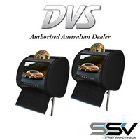 "DVS 9"" HEADREST MONITOR WITH IN-BUILT DVD PLAYER X 2"