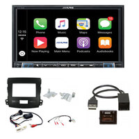 Alpine ILX-702D Complete fitting kit to suit Mitsubishi Outlander 2007-10 Apple CarPlay / Android Auto 7 inch DAB+ Receiver
