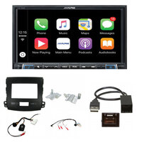 Alpine ILX-702D Complete fitting kit to suit Mitsubishi Outlander 2010-2013 Apple CarPlay / Android Auto 7 inch DAB+ Receiver