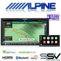 "Alpine  INE-W987A 7"" Navigation / Apple CarPlay / Android Auto / HDMI / USB / Bluetooth /  FLAC / DAB+ Receiver"