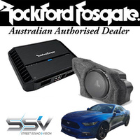 Rockford Fosgate Amp & Sub with enclosure to suit Ford Mustang
