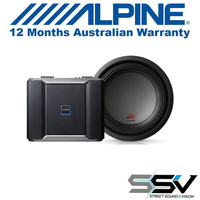 Alpine R-Series 12″ Subwoofer System - R-Series Mono Amplifier & R-Series 12″ Subwoofer